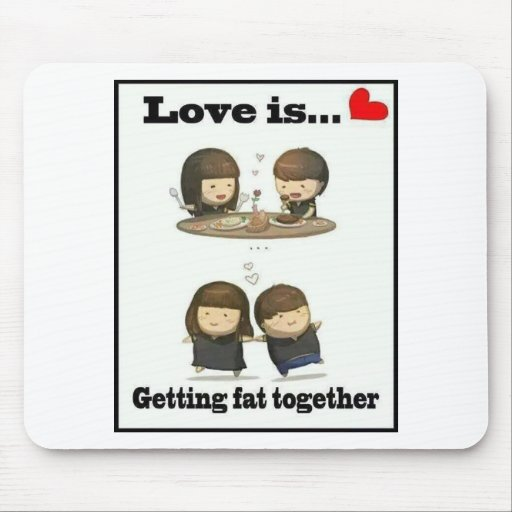love is going fat mouse pads