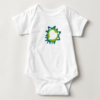 Love is Grand and Messy Heart Baby Bodysuit