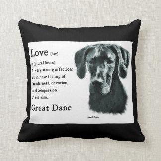 Love Is Great Dane Gifts Cushion