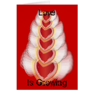 Love Is Growing-Customize Greeting Card