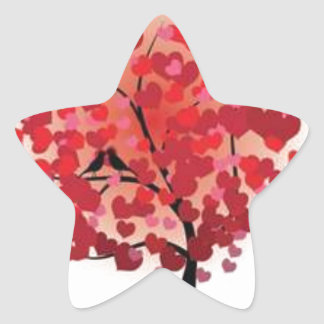 Love is growing star sticker