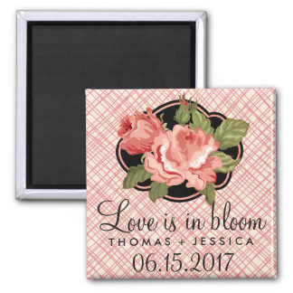 Love is in Bloom Rose Wedding Save Date Magnets