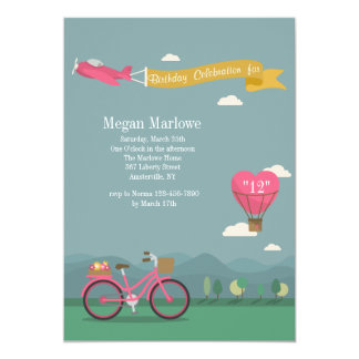 Love is in the Air Birthday Invitation