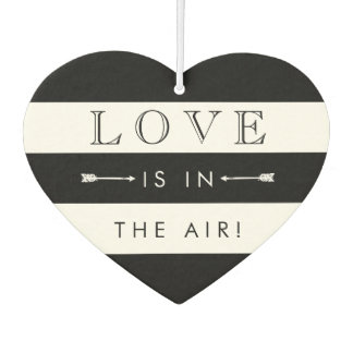 Love Is In the Air | Black & White Wedding Favor Car Air Freshener