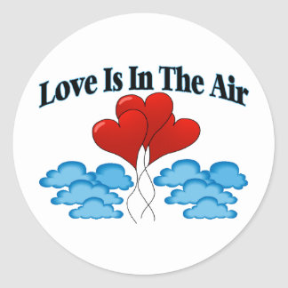 Love Is In The Air Classic Round Sticker