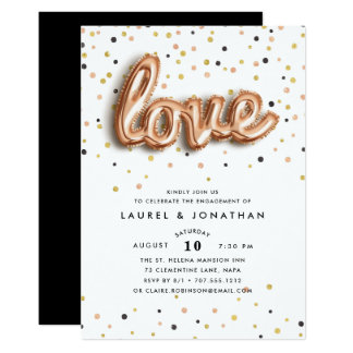 Love is in the Air | Engagement Party Invitation