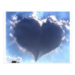 Love is in the Air: Heart Shaped Cloud: Wedding Postcards