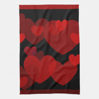 Love is in the Air Hearts Hand Towel