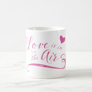 Love is in the Air Hot Pink Valentine's Day Coffee Mug
