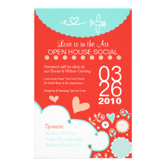 Love is in the Air Open House Flyer