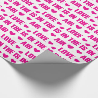 Love is in the air wrapping paper