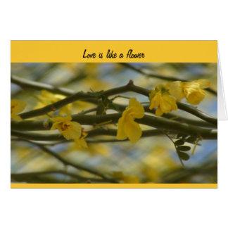Love is like a flower - Wedding card
