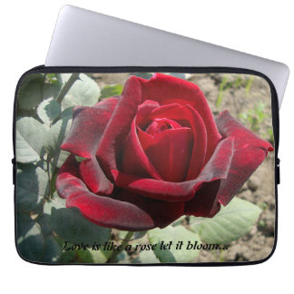 Love is like a rose computer sleeve.. laptop sleeves