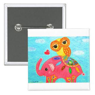 Love Is Like An Elephant 15 Cm Square Badge