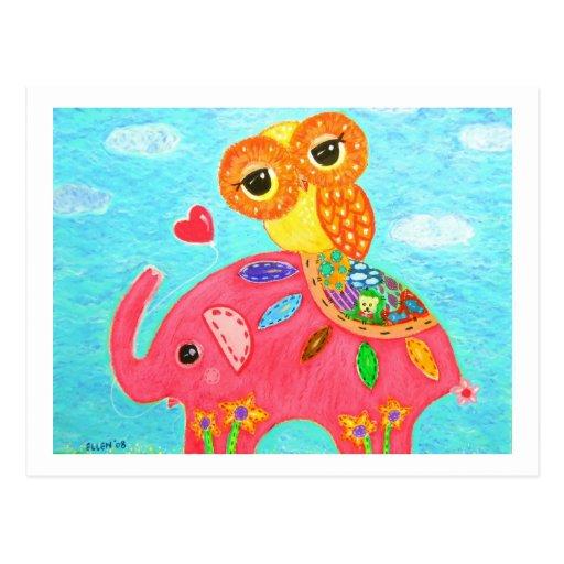 Love Is Like An Elephant Postcard