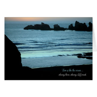 Love is Like the Ocean Inspirational Encouragement Greeting Card