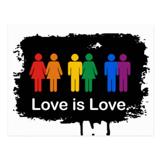 LOVE IS LOVE BLACK POST CARD