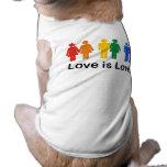 Love is Love Dog Tee Shirt