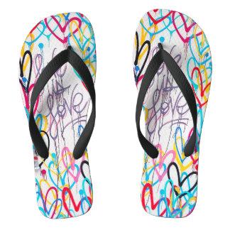 Love Is Love Flip Flops Thongs