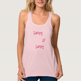 Love is Love Flowy Racerback Tank Top
