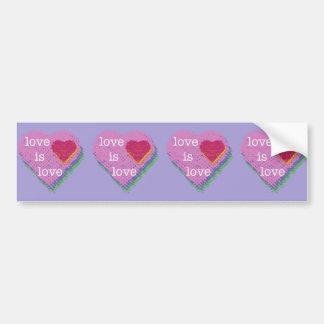 Love is Love Heart Bumper Sticker