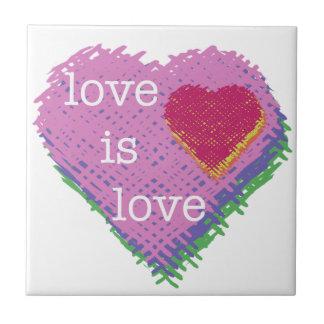 Love is Love Heart Ceramic Tile