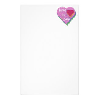 Love is Love Heart for the Written Word Stationery