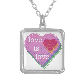 Love is Love Heart Necklace