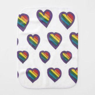 Love is Love Heart pattern Burp Cloth