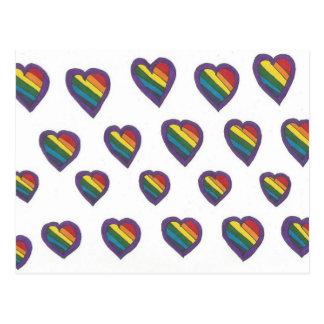 Love is Love Heart pattern Postcard