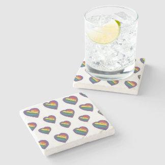 Love is Love Heart pattern Stone Coaster