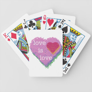 Love is Love Heart Playing Cards