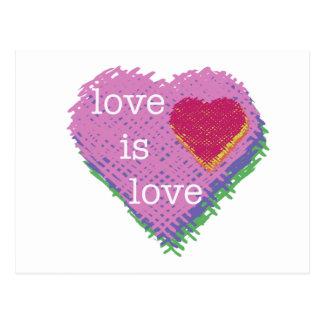 Love is Love Heart Postcard