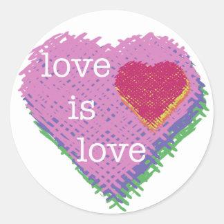 Love is Love Heart Stickers