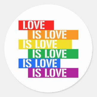 Love is Love is Love - Pride Love - - LGBTQ Rights Classic Round Sticker