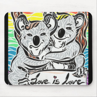 'Love is love' Koalas Mouse Pad