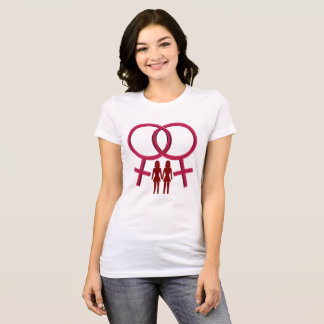 Love is Love, Lesbian Symbol Women Holding Hands T-Shirt