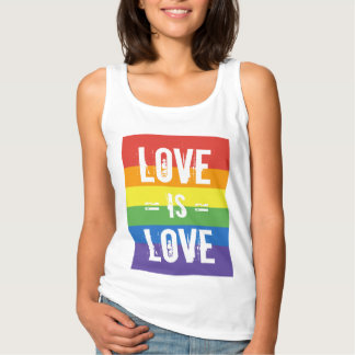 Love is Love - Love Equality Rainbow Flag Singlet