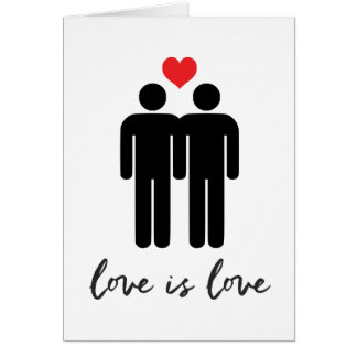 Love is Love (Men) + Heart Card