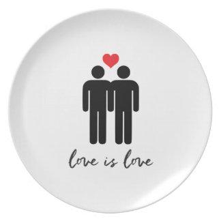 Love is Love (Men) + Heart Plate