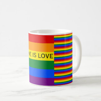 Love is Love Rainbow Flag LGBT Gay Pride Coffee Mug