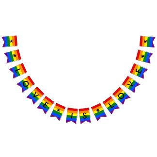 Love is Love Rainbow Flag LGBT Pride Wedding Party