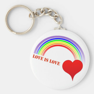 LOVE IS LOVE Rainbow Heart Keychain