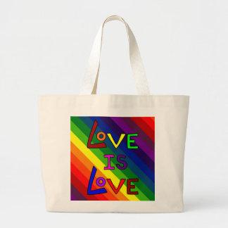 LOVE IS LOVE RAINBOW~ JUMBO TOTE BAG