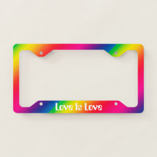 Love Is Love Rainbow License Plate Frame