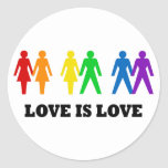 Love is Love Round Sticker