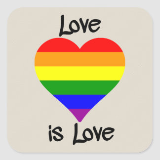 Love Is Love Square Sticker