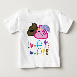 Love is Love T-Shirt: Poo & Icecream Loving Couple Baby T-Shirt