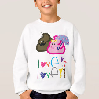 Love is Love T-Shirt: Poo & Icecream Loving Couple Sweatshirt