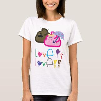 Love is Love T-Shirt: Poo & Icecream Loving Couple T-Shirt